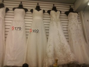 Budget wedding gown, Los Angeles wedding officiant