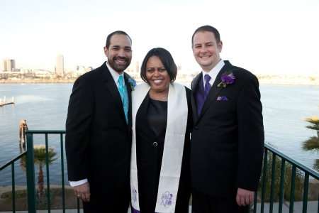 Gay weddings, Los Angeles, african-american wedding officiants