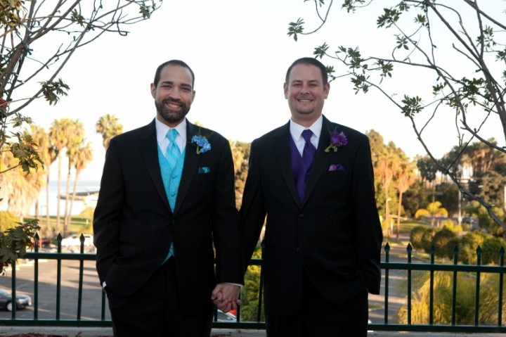 Gay weddings, Los Angeles,  african-amercan wedding officiants
