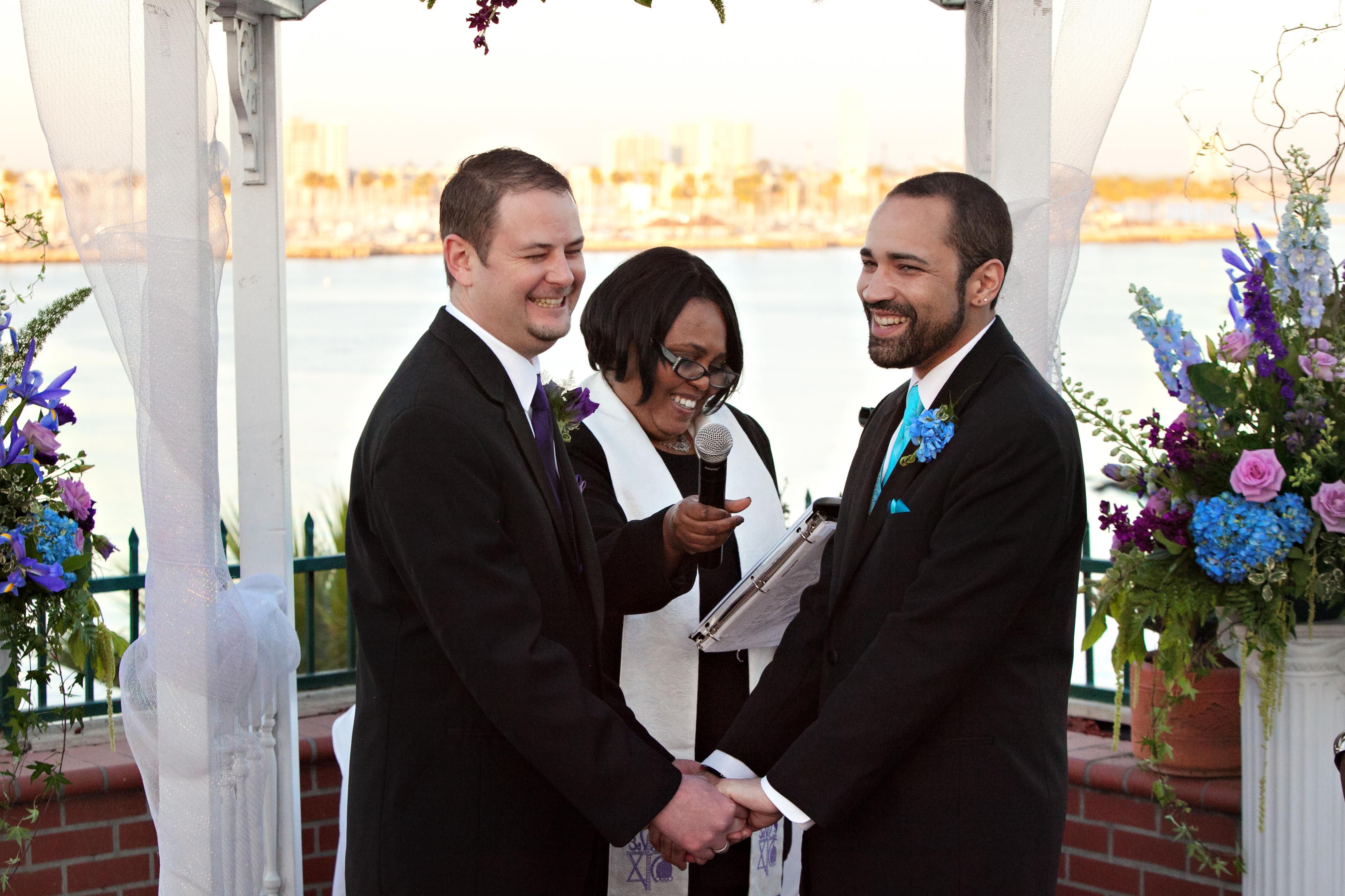 Gay weddings, Los Angeles, african-american wedding officiants