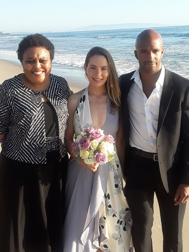 Los Angeles Beach Elopement, African American Wedding Officiants