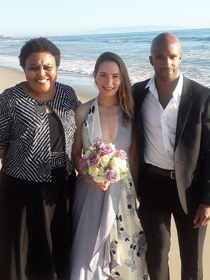 Los Angeles Beach Elopement, African American Wedding Officiants
