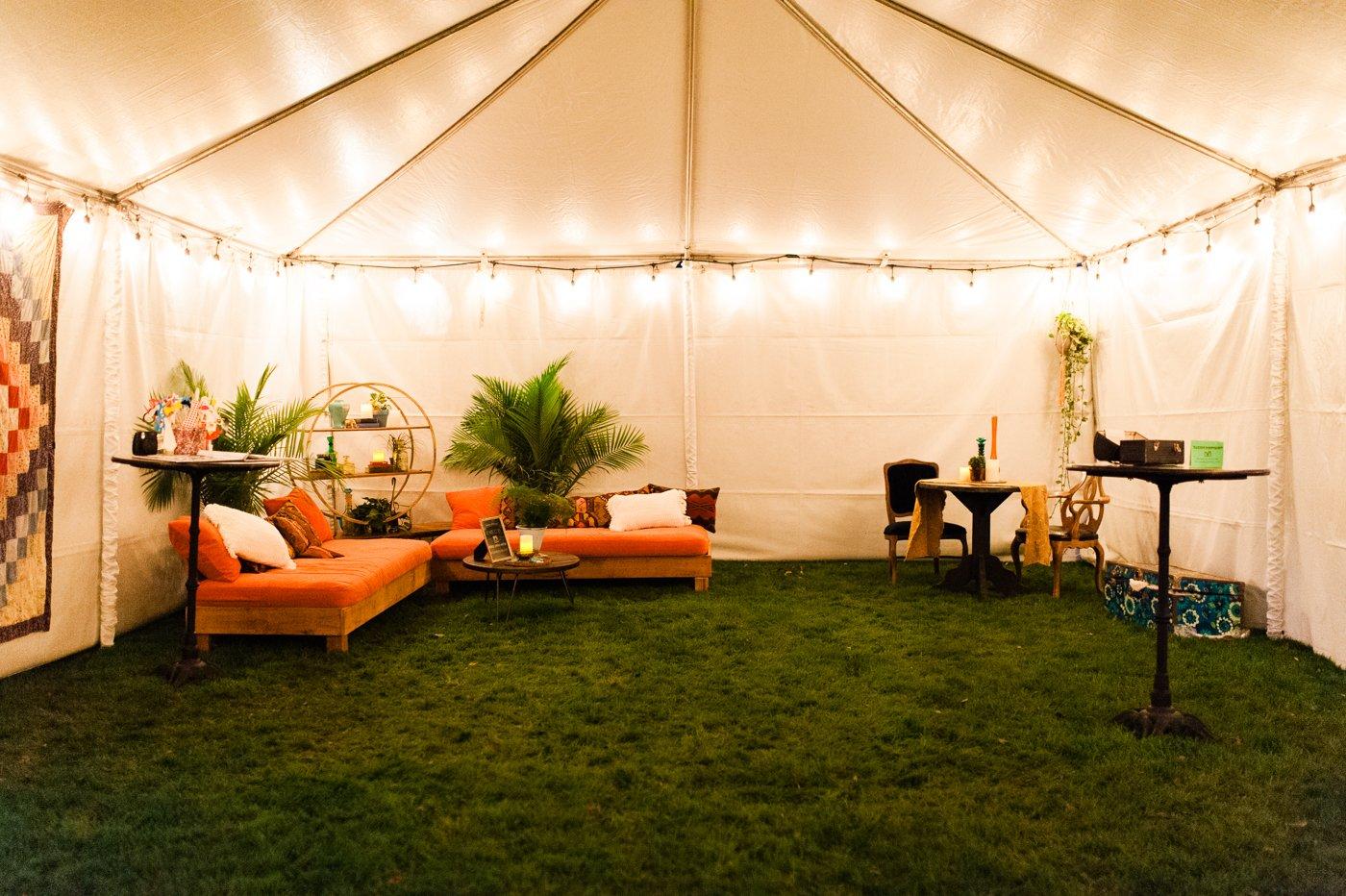 Weed tent, weed weddings,  420 weddings, cannabis ceremonies
