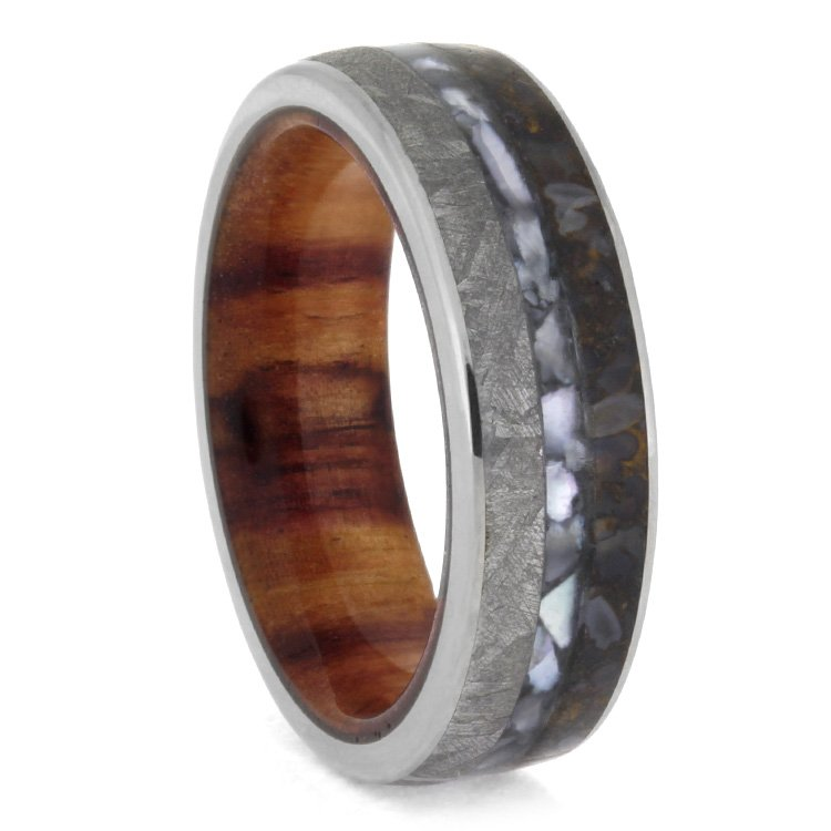 polished band dinosaur gold bone inlay the s abia wedding mens yellow brown rings with men diamond