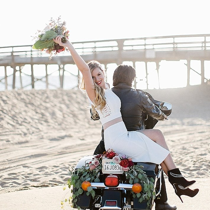 Biker Elopement, Los Angeles wedding officiant