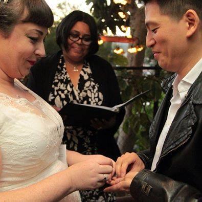 Feminist Wedding,  Gender neutral wedding, African American wedding officiant,  Los Angeles wedding officiant