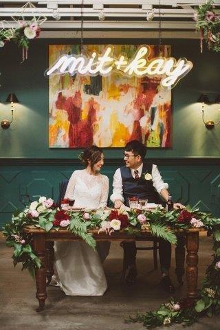 Neon Wedding Signs, Los Angeles Wedding Officiants, African American wedding officiants
